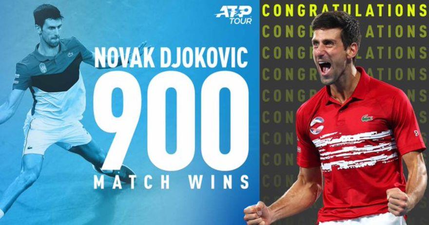 Новак Ѓоковиќ 900