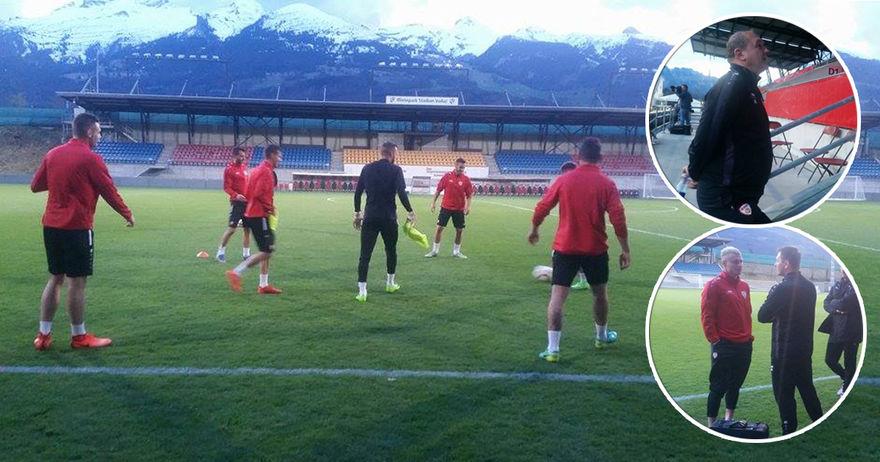 Фудбалерите тренираа под Алпите  Чириќ се потсети на победата од 11 1