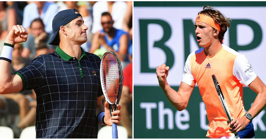 Зверев против Иснер е првиот полуфинален пар на Мастерсот во Рим