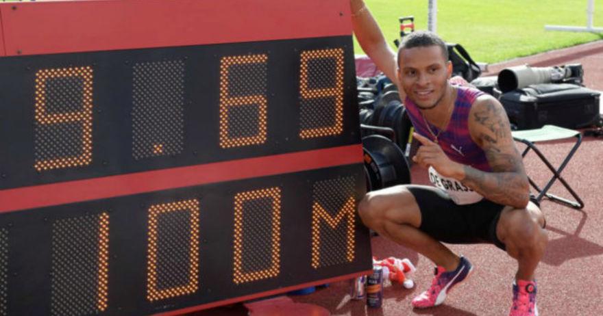 Де Грас истрча 9 69 секунди во Стокхолм  но со огромна помош од ветрот