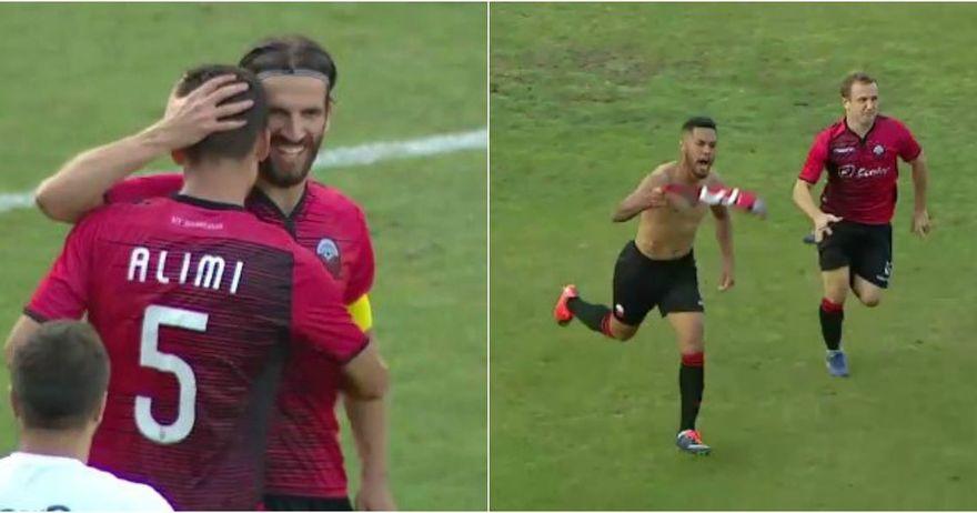 Проектил на Алими  гол на Жуниор   Вардар матиран за само пет минути во Тетово