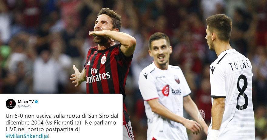 Милан твитна по победата над Шкендија   Сан Сиро  не видел 6 0 од 2004 година