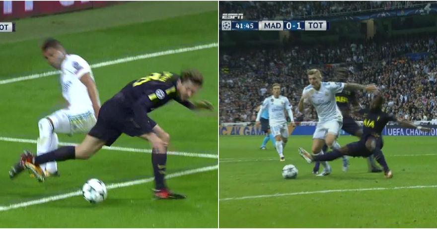 Пенал за Реал  но не и за Тотенхем   двоен судиски аршин во Мадрид