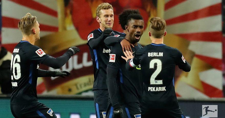 Херта со 10 играчи го совлада РБ Лајпциг, лудо реми на Хановер и Леверкузен со ОСУМ гола