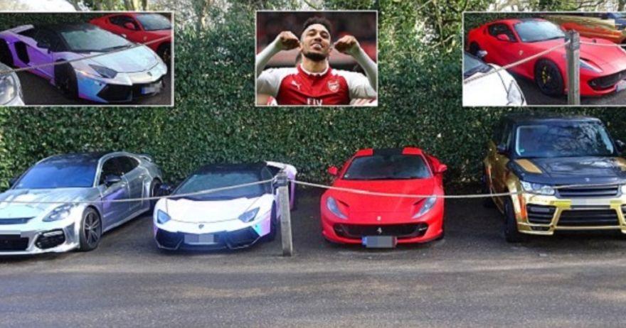Обамејанг ги паркира луксузните автомобили од ЕДЕН МИЛИОН евра пред хотелот во Лондон