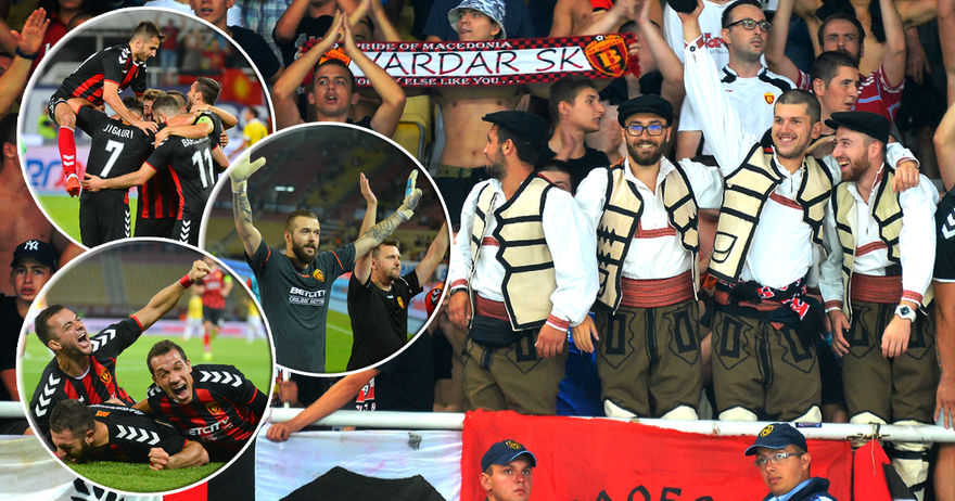 Нова фудбалска рапсодија во Европа   на колена фрлен и големиот Фенер  а публиката порача    Вардар е ЕДЕН