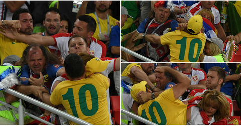Бразил Србија тепачка