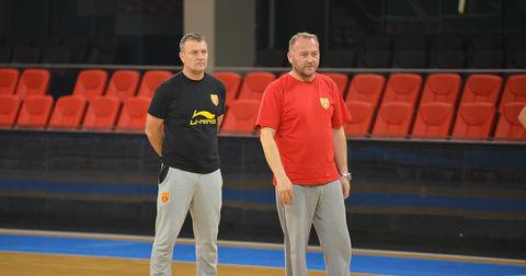 Ивица Обрван и Томче Петрески на тренинг на репрезентацијата