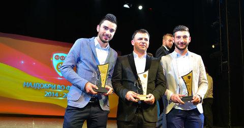 Добитниците на наградите за најдобри во фудбалот за 2015 година