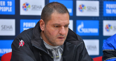 Марјан Андонов на прес-конференција по мечот со Спартак