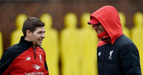 Жерард и Клоп на тренинг на Ливерпул