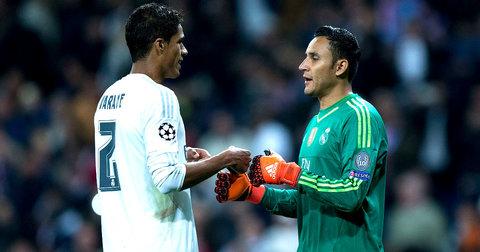Варан и Кејлор Навас во дресот на Реал Мадрид