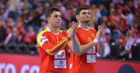 Филип Кузмановски и Ацо Јоноски по мечот со Франција