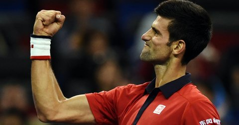 Новак Ѓоковиќ на тениски натпревар