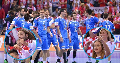Хрватски ракометари и навивачки