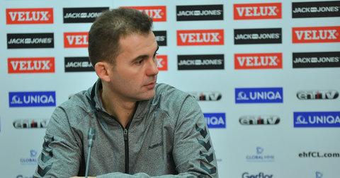 Тренерот на РК Вардар, Раул Гонзалез на прес-конференција