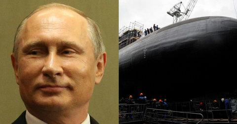 Владимир Путин испрати подморница пред натпреварот Англија - Русија