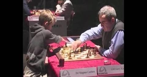 Магнус Карлсен и Гари Каспаров