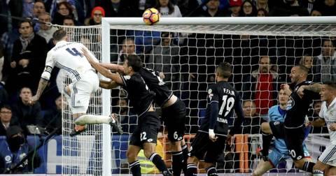 Серхио Рамос гол против Депортиво
