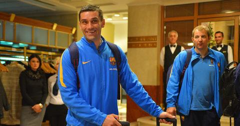 Кирил Лазаров пристигна во Скопје со Барселона
