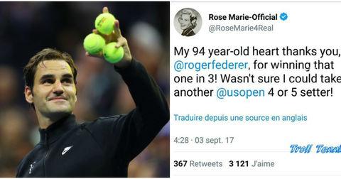 Федерер и Роуз Мари