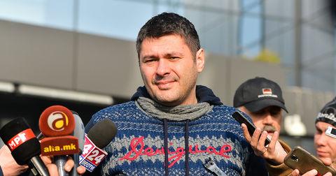 Данило Брестовац пред новинарите