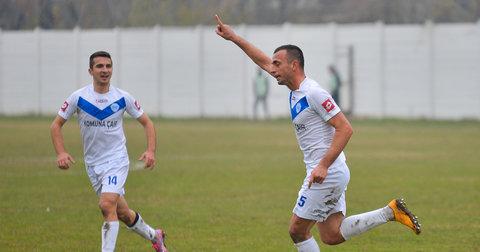 Фудбалерите на Шкупи се радуваат на постигнат гол