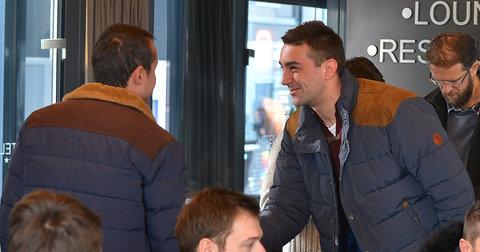 Македонските репрезентативци на собир во Хотел Русија
